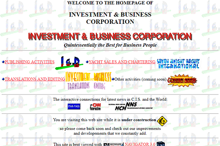 Investment and Business in 1996