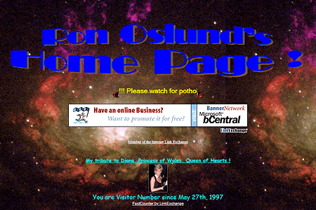 Ron Oslund's Home Page in 2001