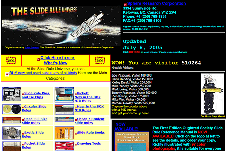 The Slide Rule Universe in 2006