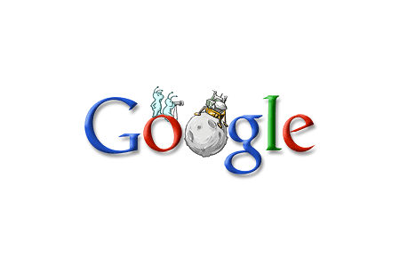 Google Doodle – Anniversary of Lunar Landing July 20, 2005