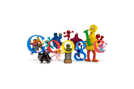 Google Doodle – 40th Anniversary of Sesame Street November 10, 2009