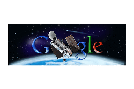 Google Doodle – Hubble Space Telescope's 20th Anniversary April 24, 2010