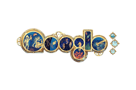 Google Doodle – Jules Verne's 183rd Birthday February 8, 2011