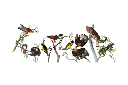 Google Doodle – 226th Birthday of John James Audubon April 26, 2011