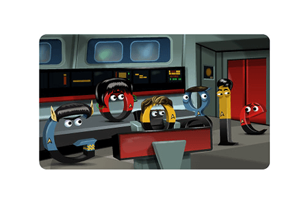 Google Doodle – 46th Anniversary of Star Trek's 1st Broadcast September 8, 2012