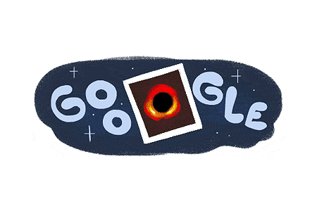 Google Doodle – First Image of a Black Hole April 10, 2019