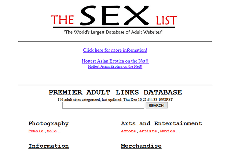 The Sex List in 1997
