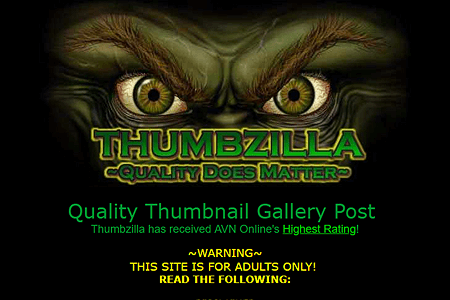 Thumbzilla in 2000