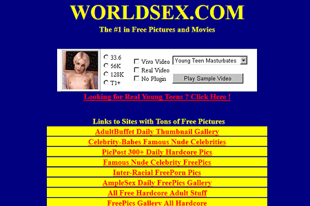 Worldsex.com in 1999