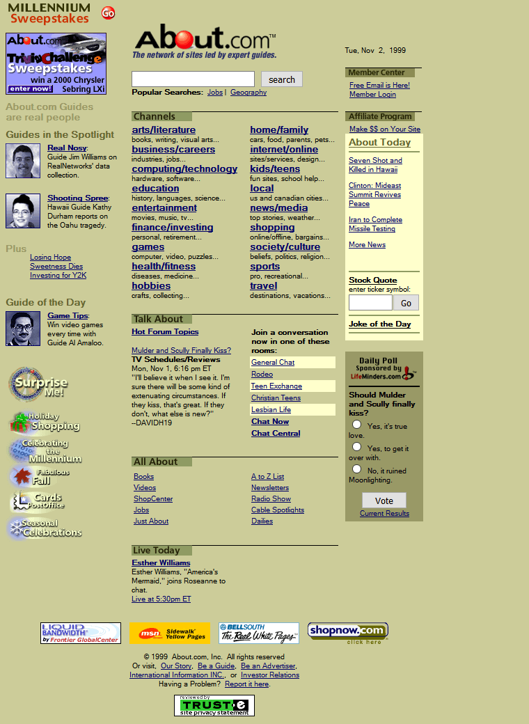 About.com in 1999