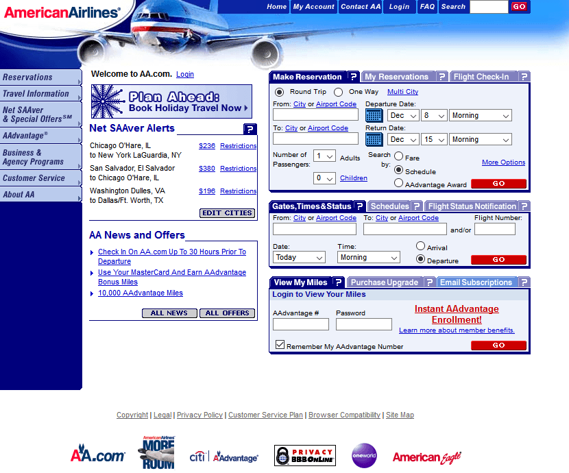 American Airlines in 2003