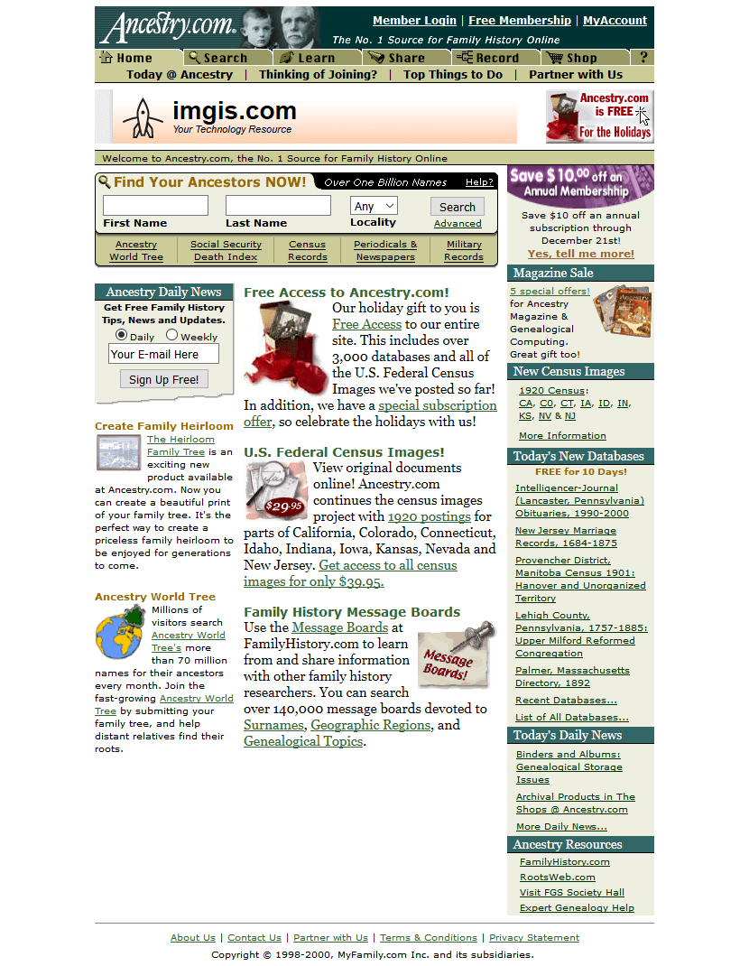 Ancestry.com in 2000