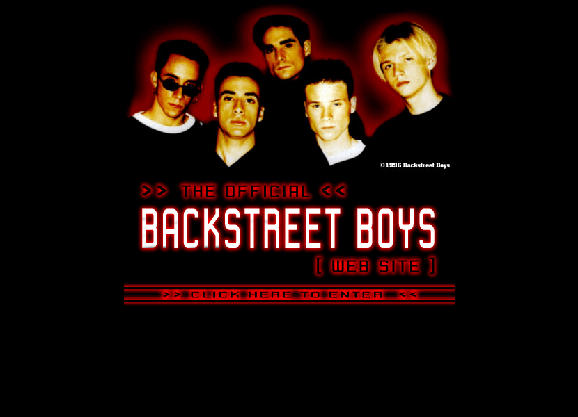 Backstreet Boys in 1996