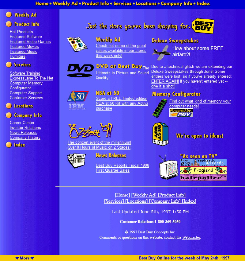 Best Buy in 1997