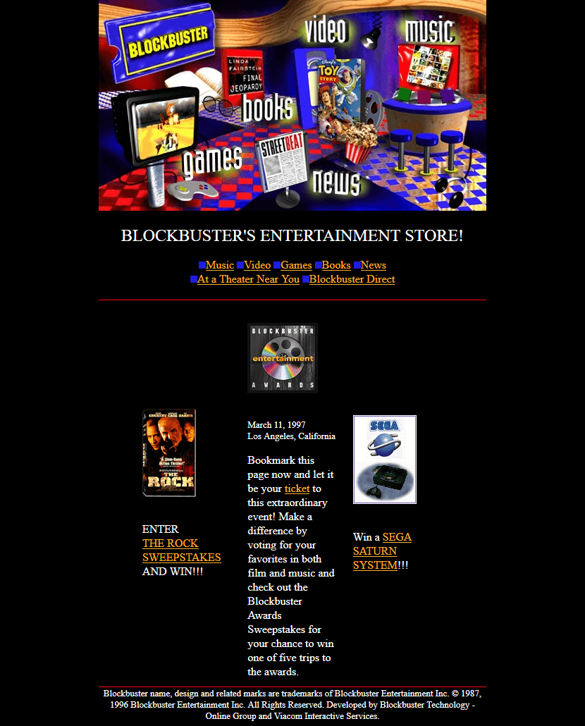 Blockbuster in 1996