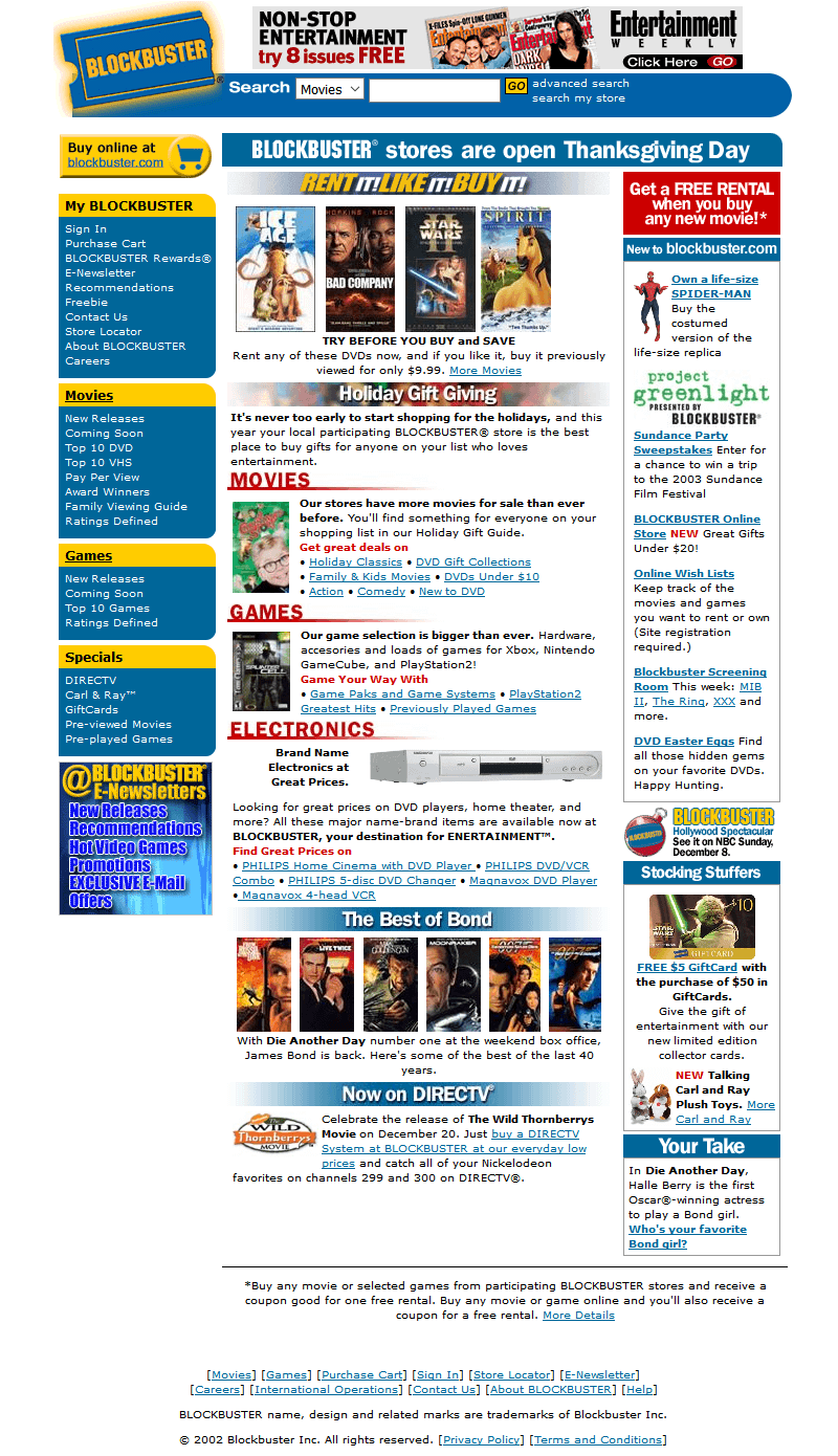 Blockbuster in 2002