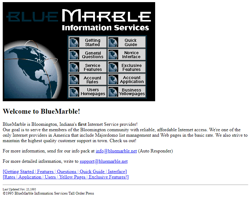 BlueMarble in 1995