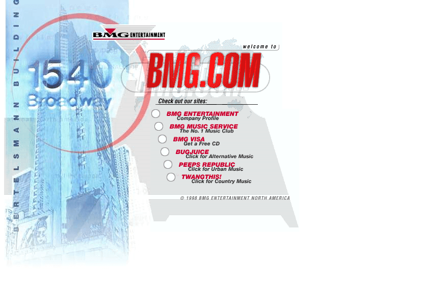 BMG.com in 1998