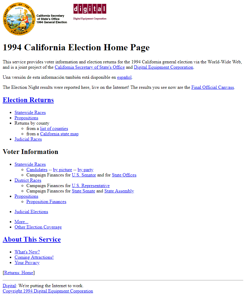 California Election in 1994
