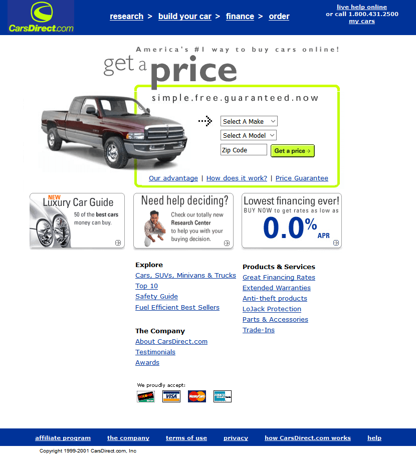CarsDirect.com in 2001