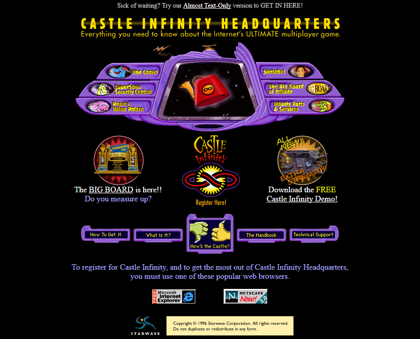 Castle Infinity Headquarters in 1996