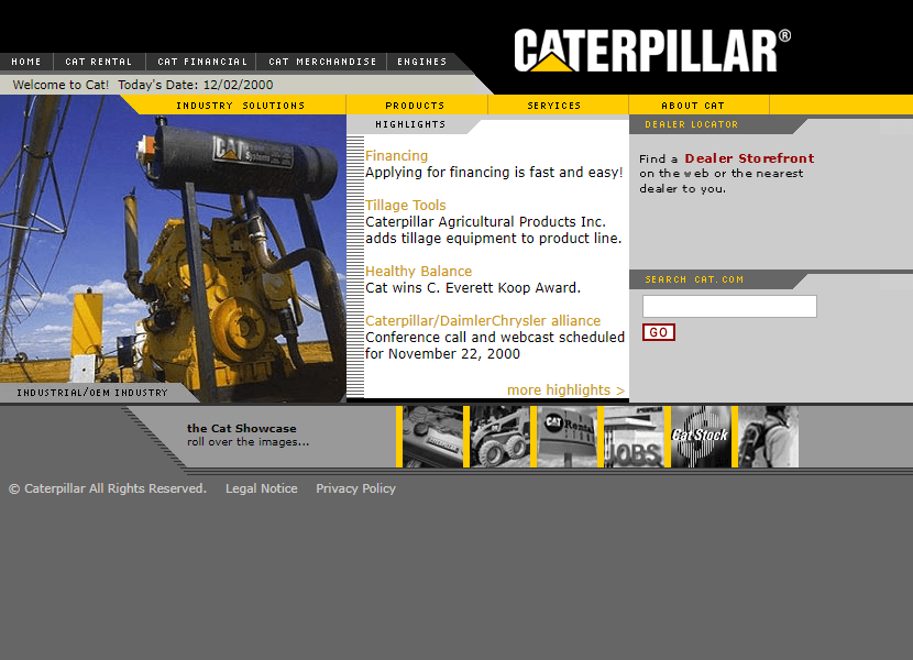 Caterpillar in 2000