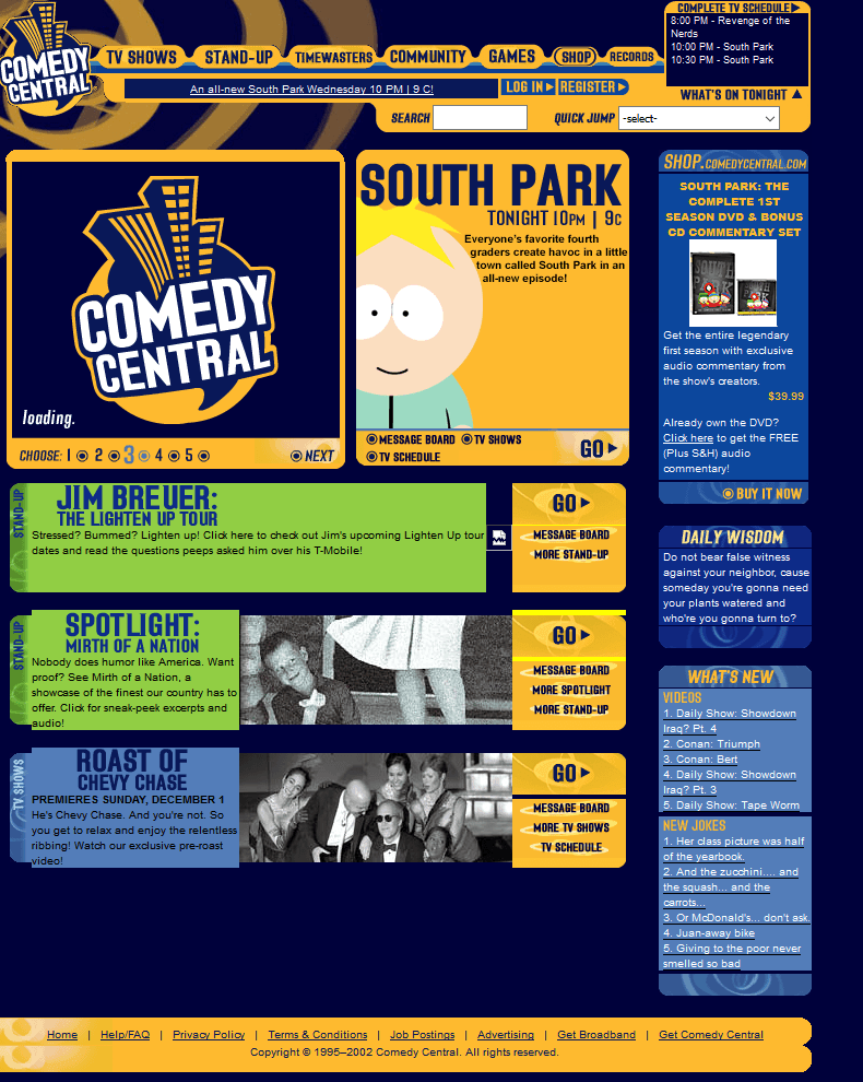 Comedy Central in 2002