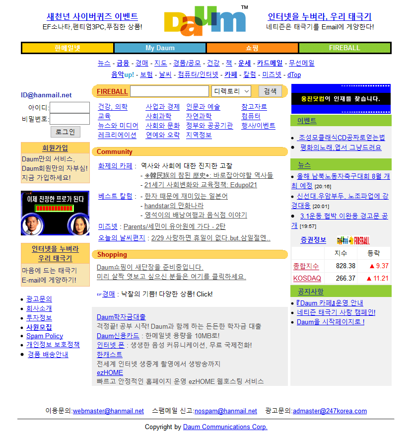 Daum.net in 2000