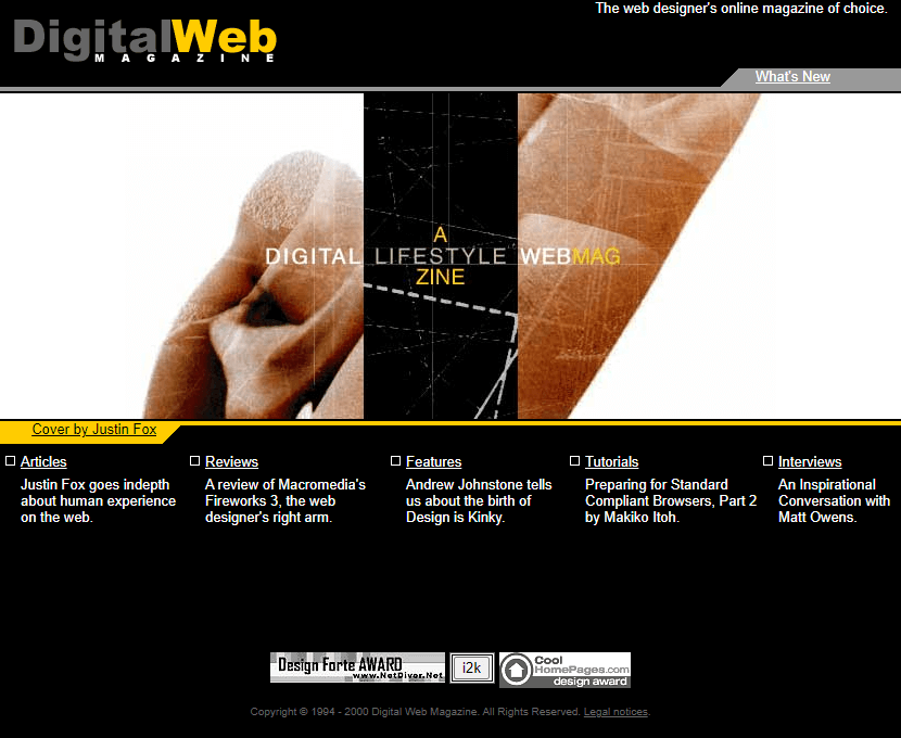 Digital Web Magazine in 2000