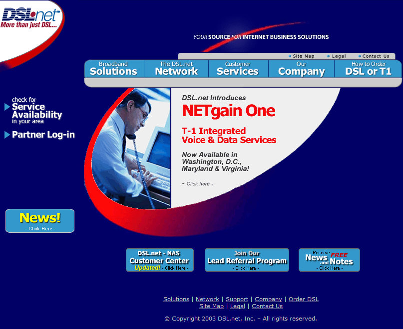 DSL.net in 2003