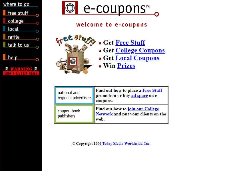 e-coupons in 1996
