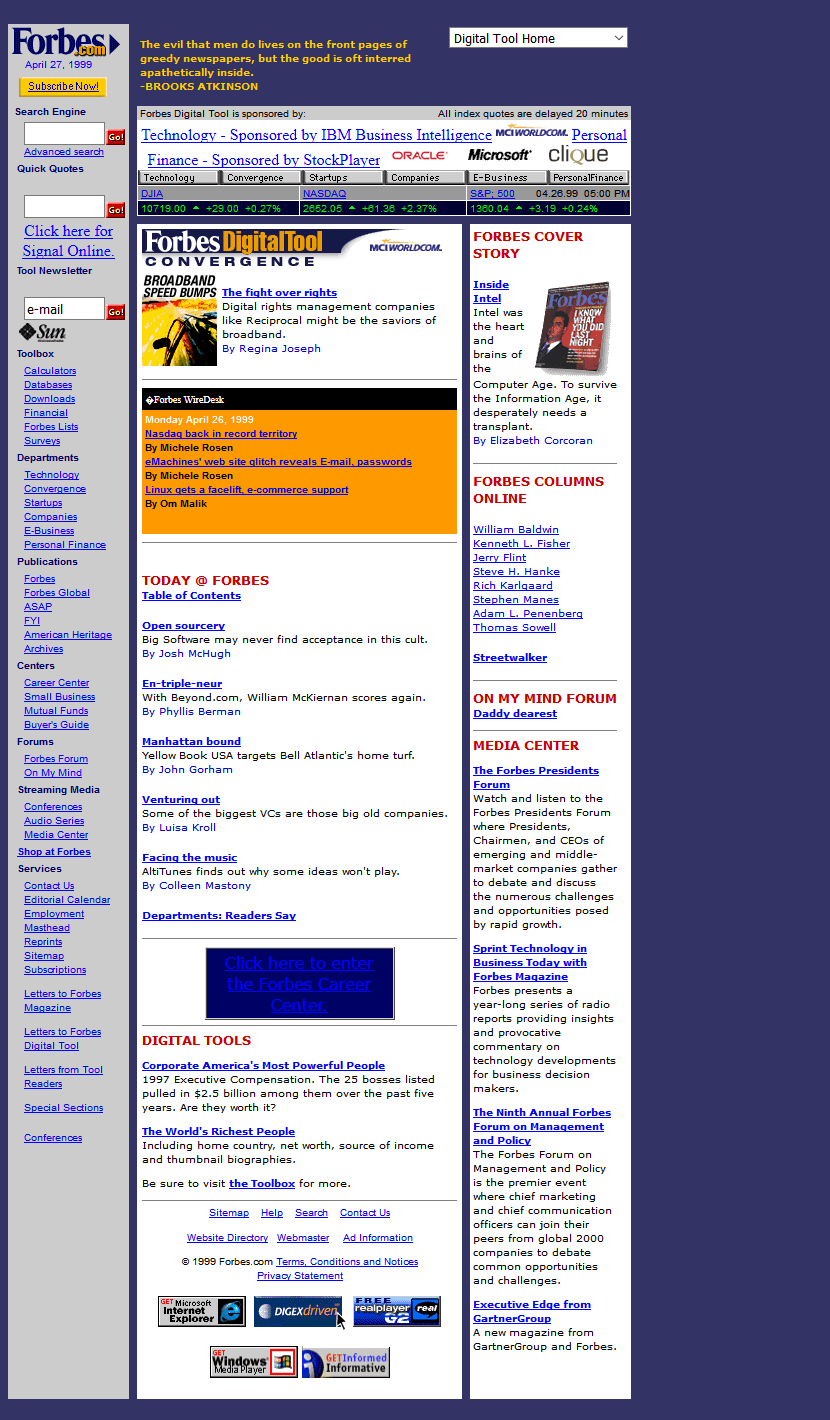 Forbes.com in 1999