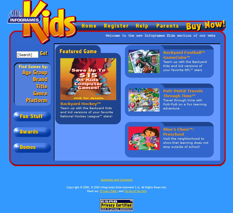 Fun Kids Games in 2003