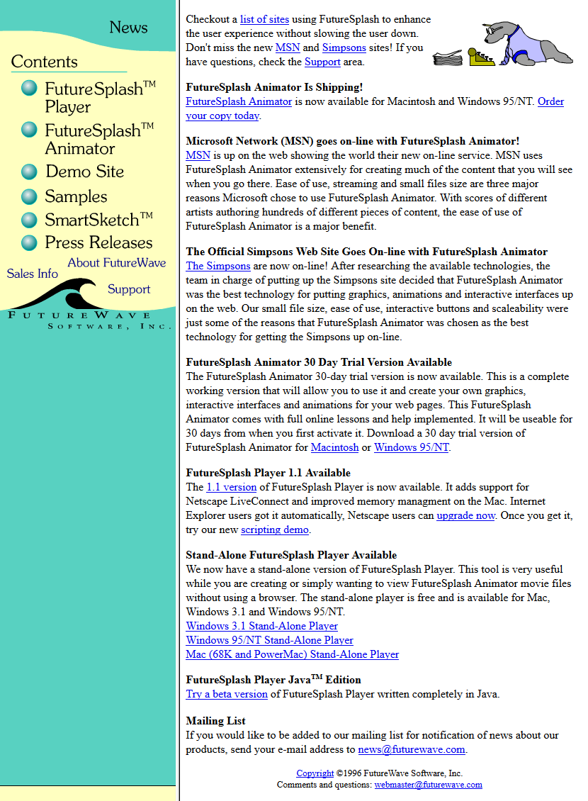 FutureWave Software 1996