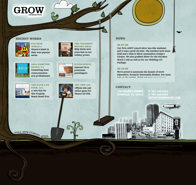 Grow Interactive in 2006