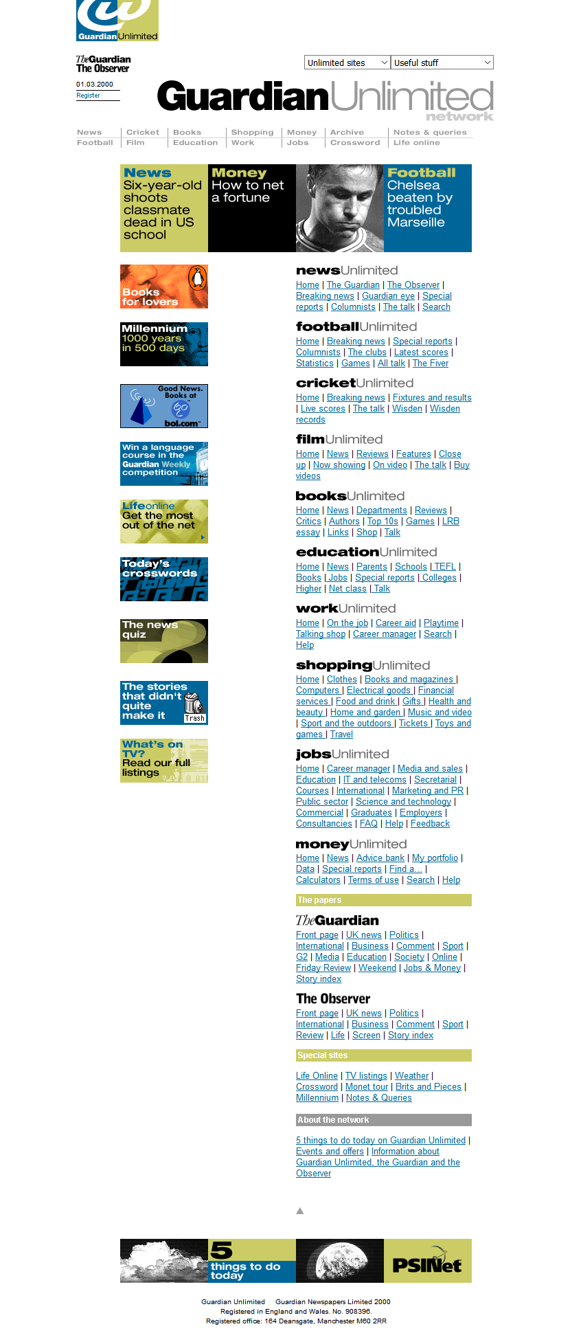Guardian Unlimited in 2000
