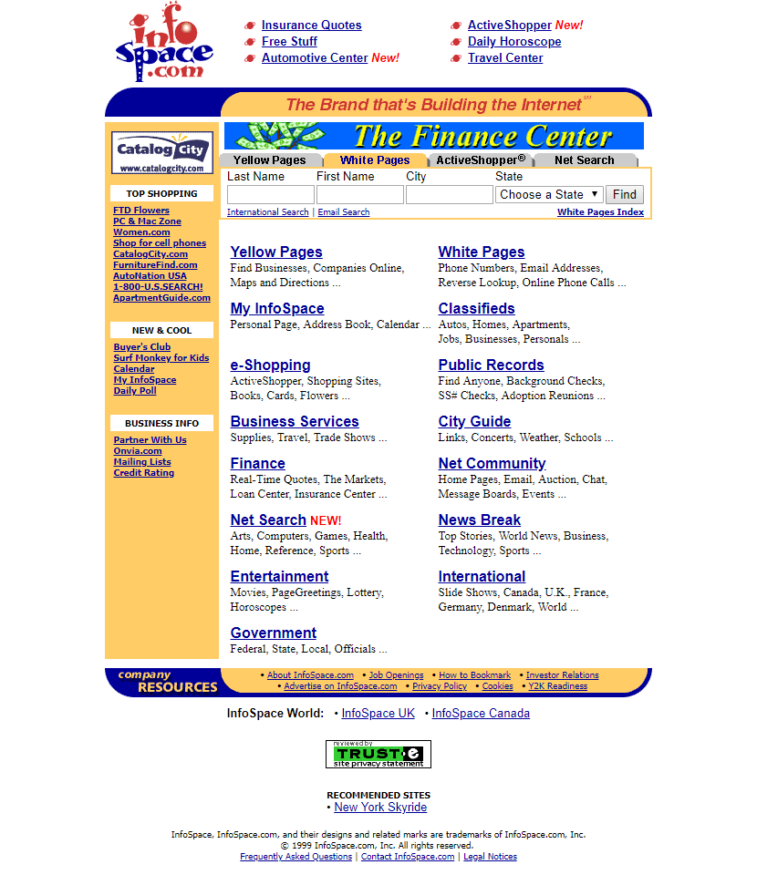 InfoSpace in 1999
