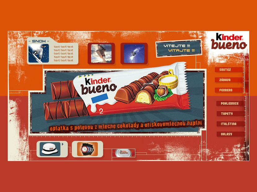 Kinder Bueno in 2002