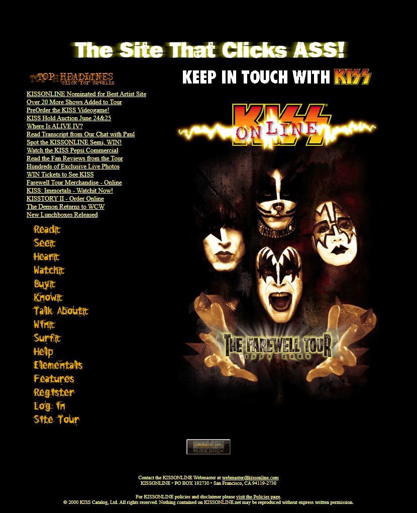 Kiss in 2000