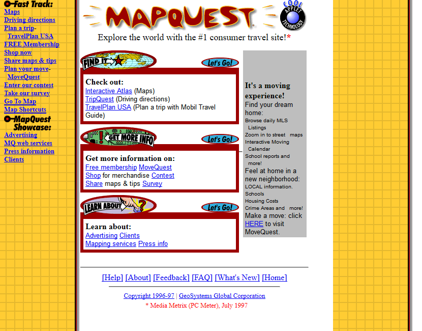 MapQuest in 1997