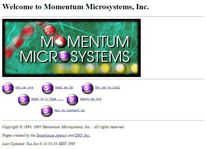 Monumentum Microsystems in 1995