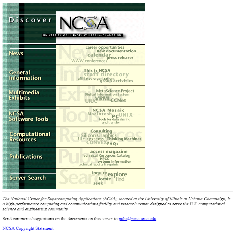 NCSA in 1995
