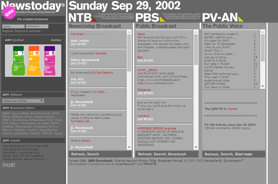 Newstoday in 2002