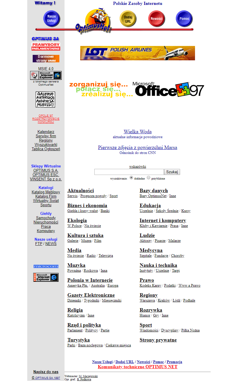 Onet.pl in 1997