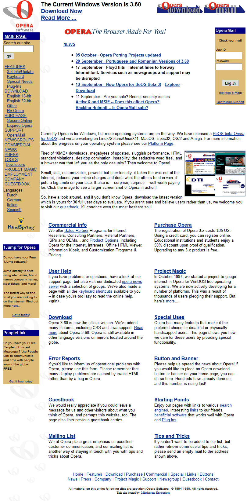 Opera Software in 1999