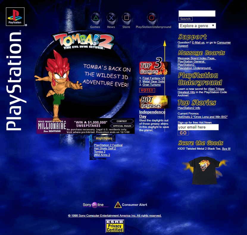 Playstation in 2000