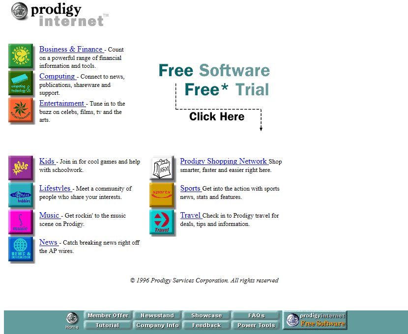 Prodigy Internet in 1997