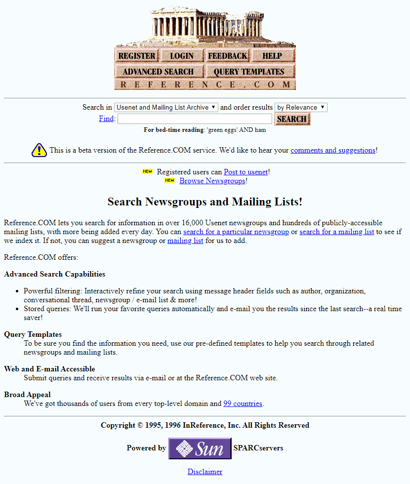 Reference.com in 1996