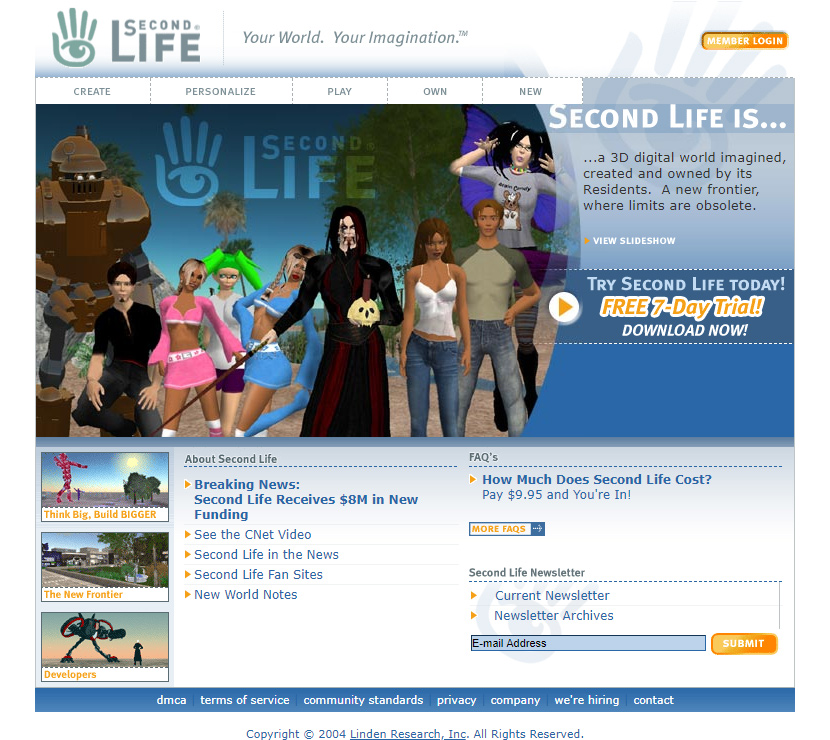 Second Life in 2004