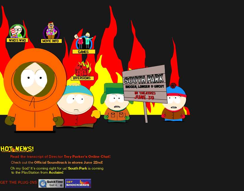 South Park Movie in 1999